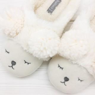 Тапочки «Мишки» белые