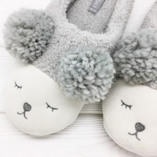Тапочки «Мишки» серые