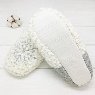Тапочки «Снежинки» с задником