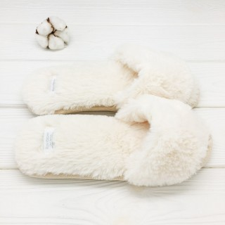Тапочки «Мех» белые