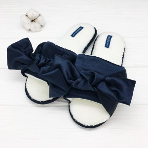 Тапочки «Шёлковые бантики» синие