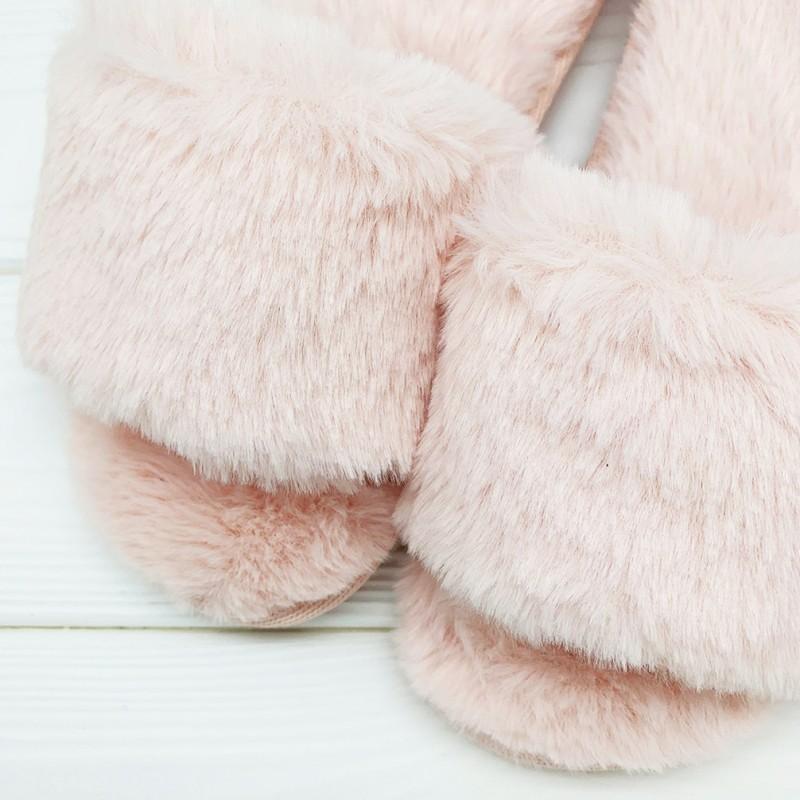 Тапочки «Мех» розовые