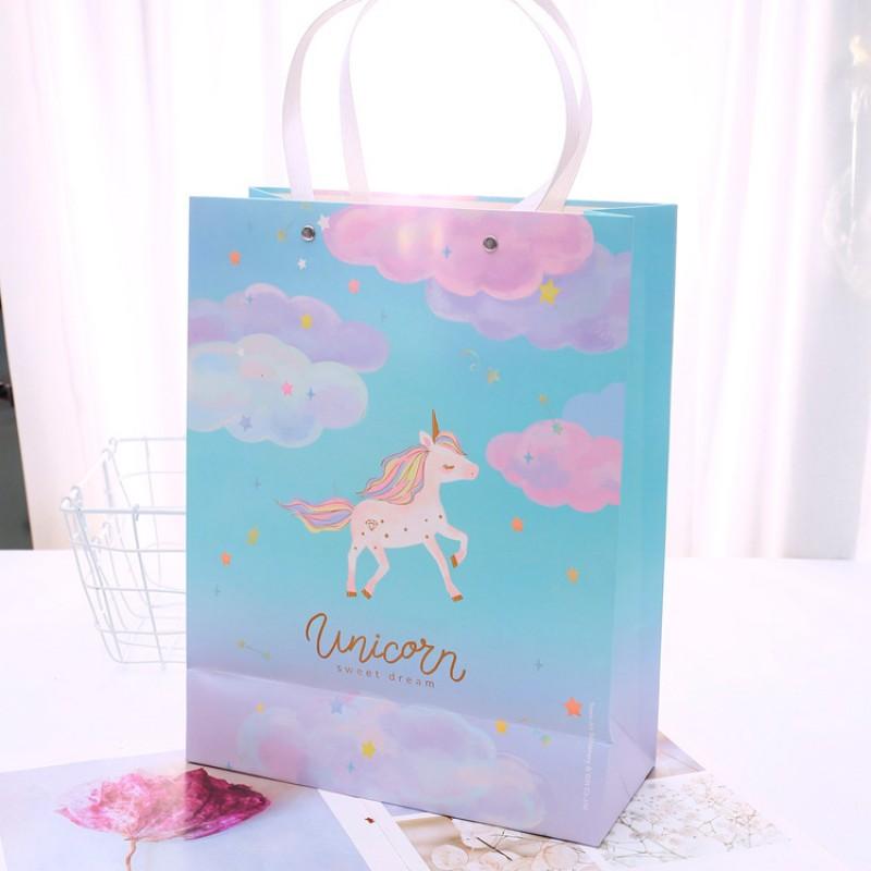 """Пакет подарочный """"Unicorn"""" облака"""