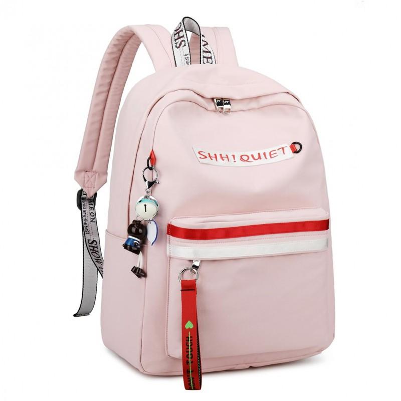 """Рюкзак """"Shh! Quiet!"""" pink красно-белый"""