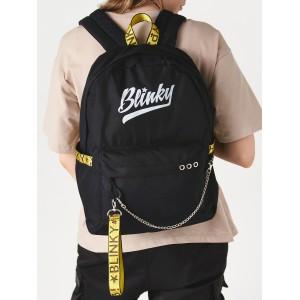 Рюкзак «Blinky» чёрный с желтым