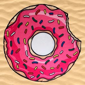 """Пляжное покрывало """"Пончик"""""""