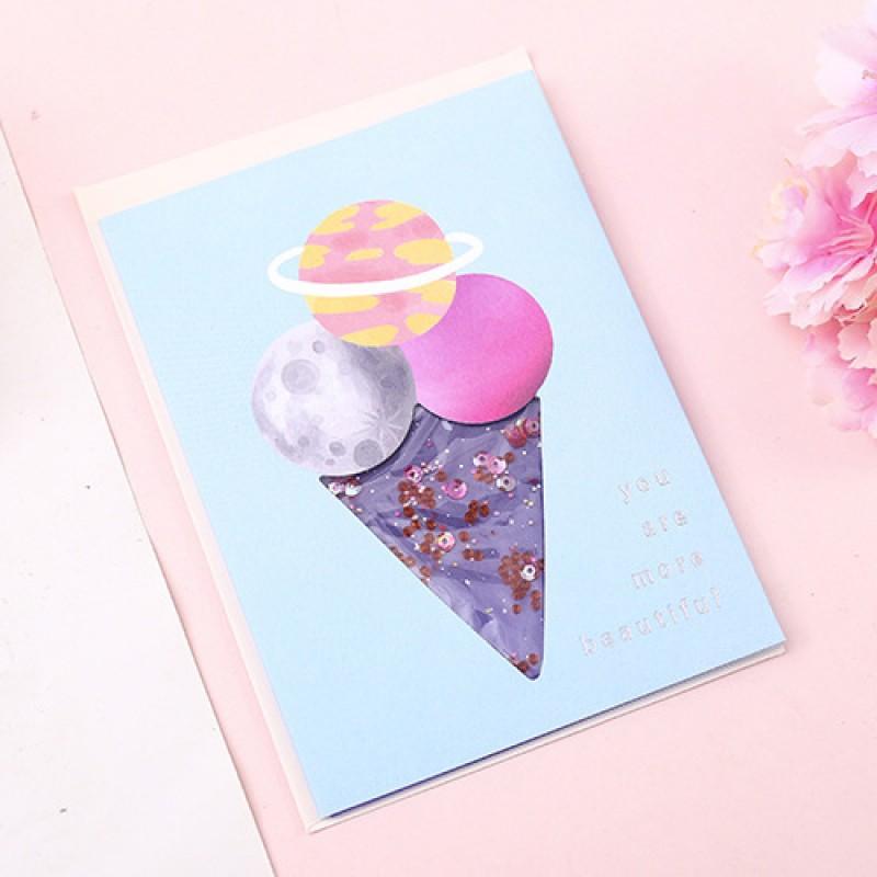 Открытка «Космос» мороженое