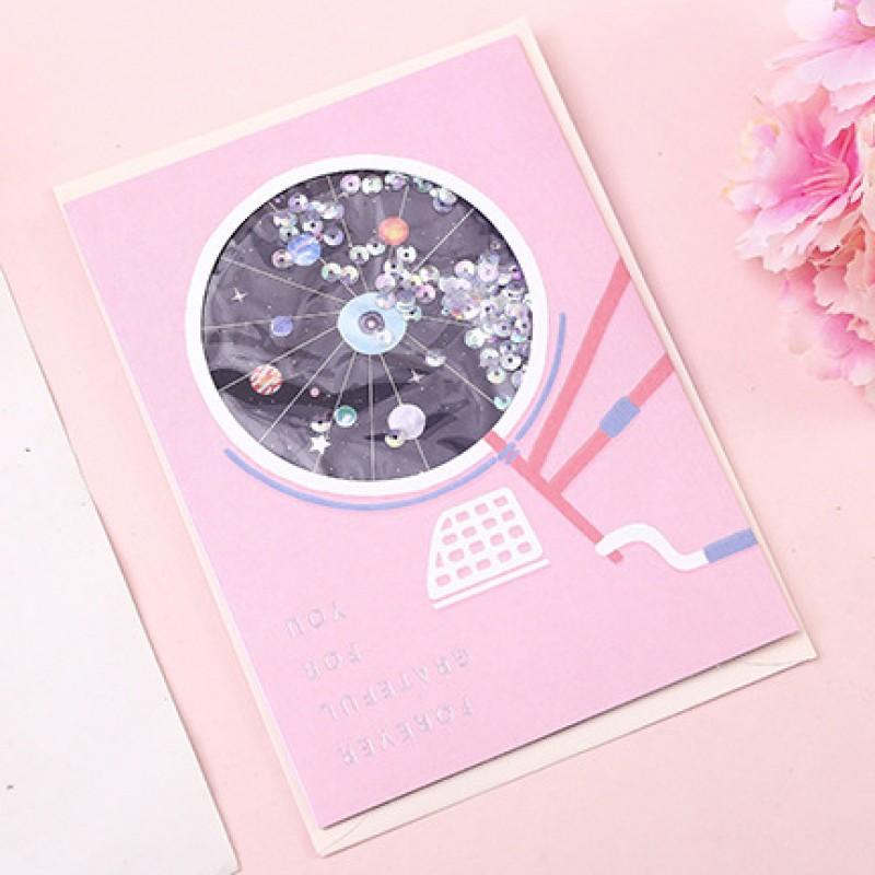 Открытка «Космос» диск