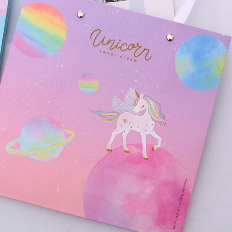 Пакет подарочный М «Unicorn» планеты