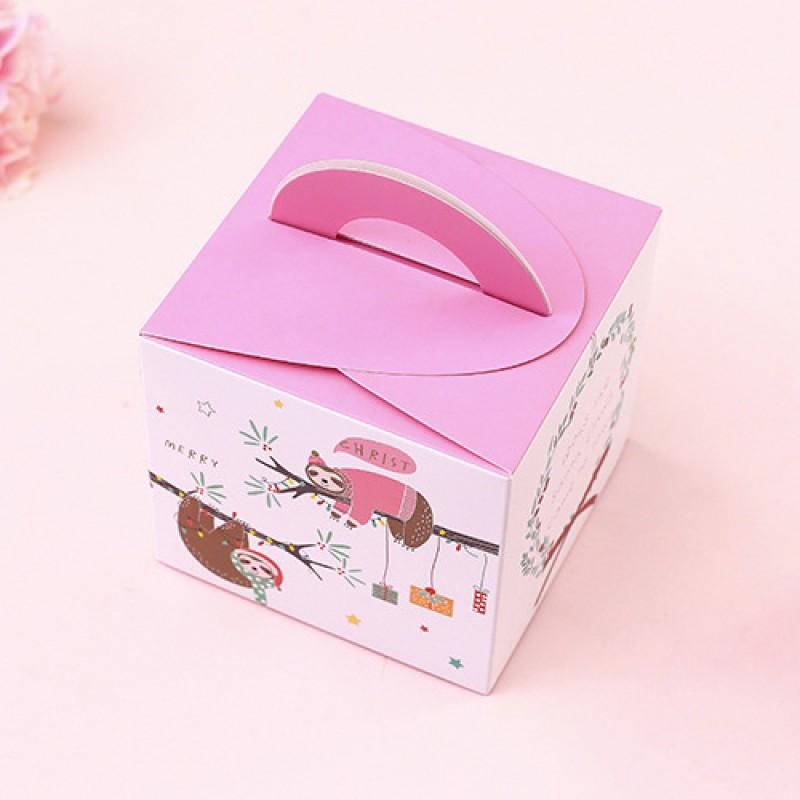 Подарочная коробка «Ленивцы» фиолетовая
