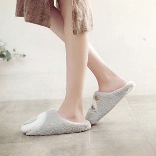 Тапочки «Лебеди» серые