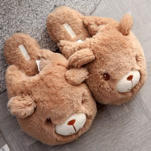 Тапочки «Медвежата» коричневые