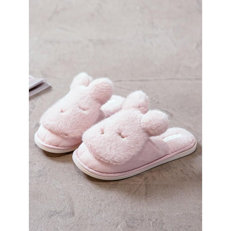 Тапочки «Сонные кролики» розовые