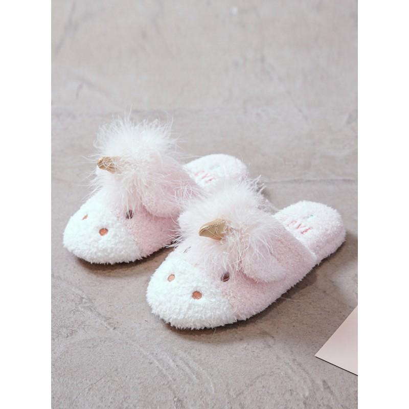 Тапочки «Ушастые единороги» розовые
