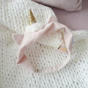 Повязка на голову «Единорог» розовая