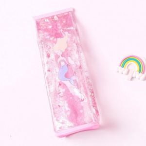 Пенал силиконовый «Русалка» розовый