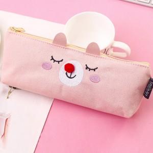 Пенал «Застенчивый котик» розовый