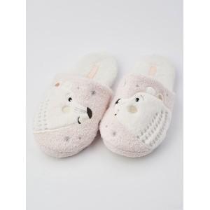 Тапочки «Мишки на севере» светло-розовые