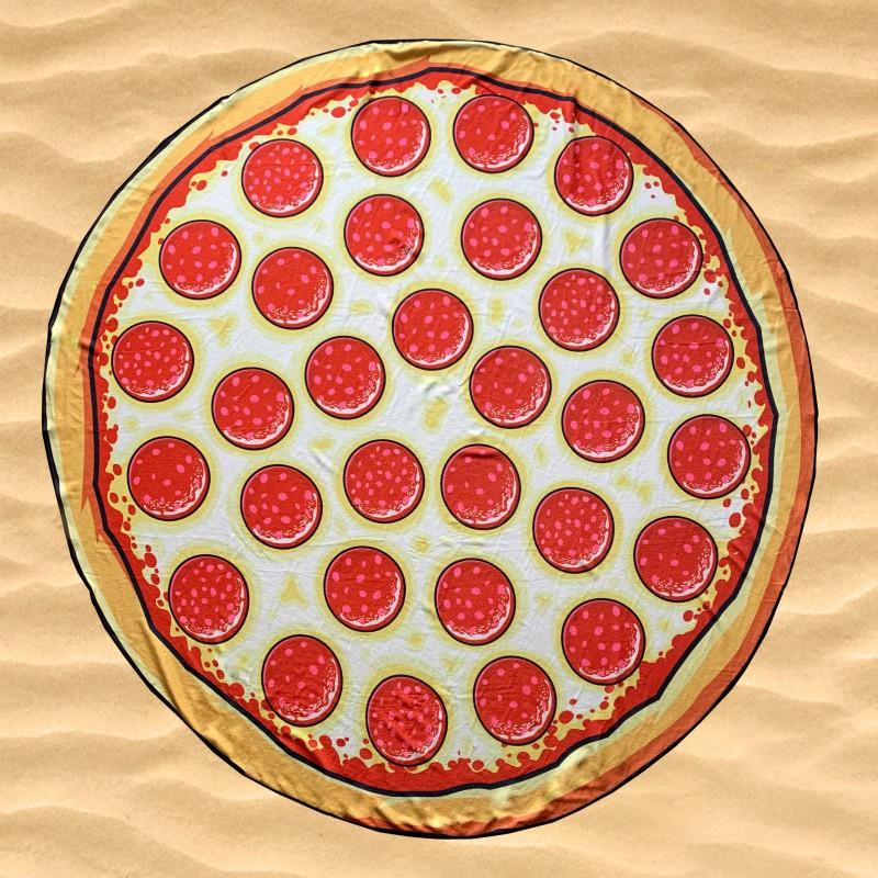 """Пляжное покрывало """"Пицца"""""""