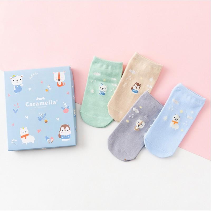 Набор носков «В гостях у животных-2», 4 пары