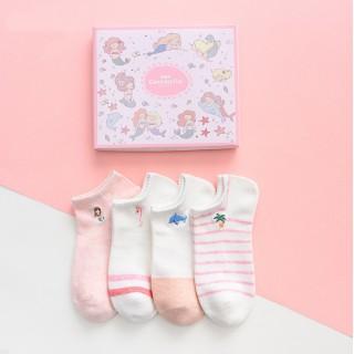 Набор носков «Русалки» розовые, 4 пары