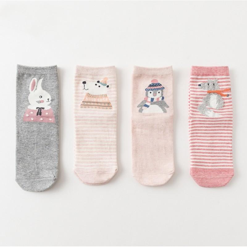 Набор детских носков «Зимний заяц», 4 пары