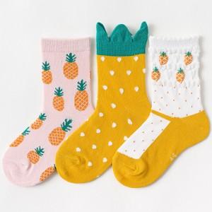 Набор детских носков «Ананасы» в мягкой упаковке, 3 пары