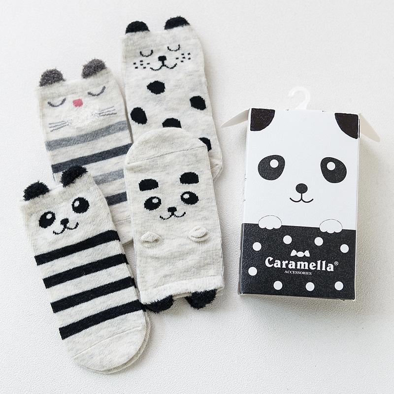 Набор детских носков «Панда», 4 пары