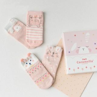 Набор детских носков «Спящий зайка», 4 пары
