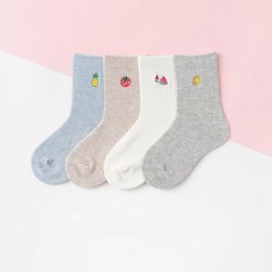 Набор детских носков «Фрукты» в мягкой упаковке, 4 пары