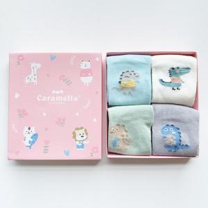 Набор детских носков «Зоопарк-1» розовый, 4 пары
