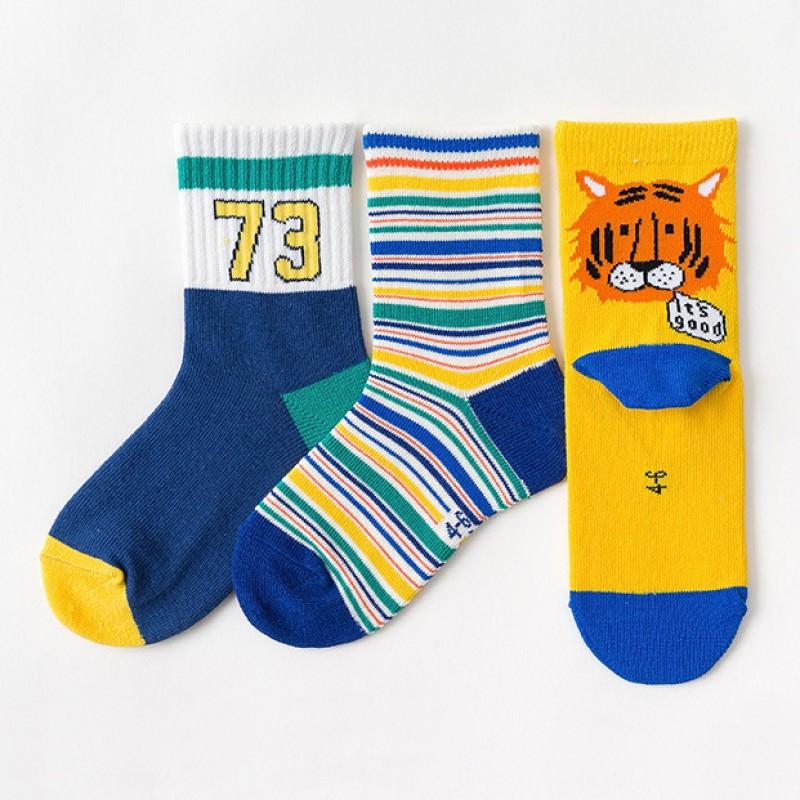 Набор детских носков «Тигрёнок» в мягкой упаковке, 3 пары