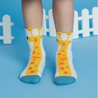 Набор детских носков «Спящий жираф» в мягкой упаковке, 3 пары