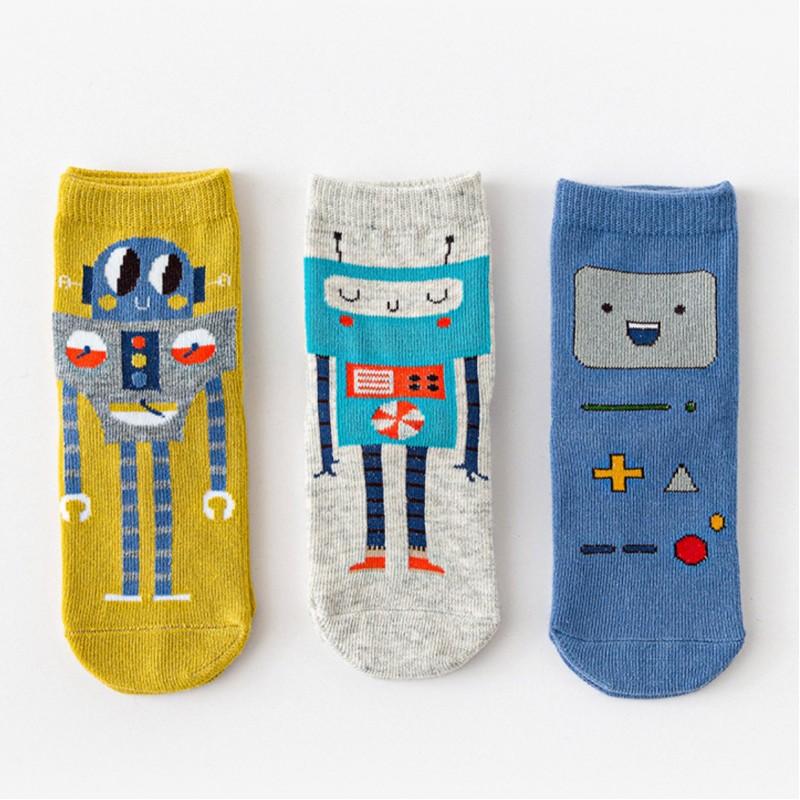 Набор детских носков «Роботы» в мягкой упаковке, 3 пары