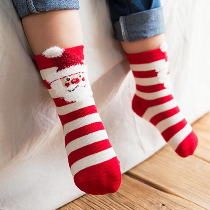 Носки детские «Дед мороз и олень», 2 пары