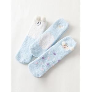 Набор мягких носков «Животные-1» голубые, 3 пары